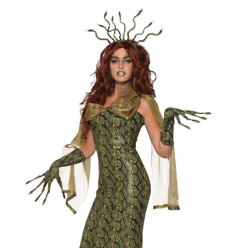 Medusa Costume Deluxe (Adult Costumes) - Female - One Size Fits Most