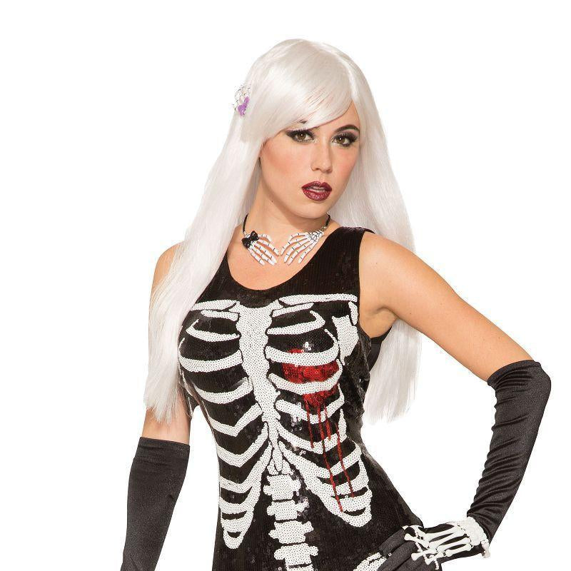 Skeleton Bleeding Heart Sequin Dress XS/S (Adult Costumes) - UK Size 6-10