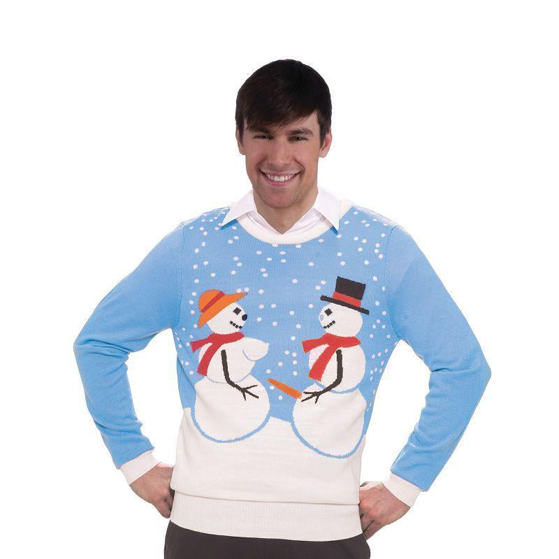 "Mens Snow Couple Sweater. (Adult Costumes) - Male - Chest Size 44"" Halloween Costume"