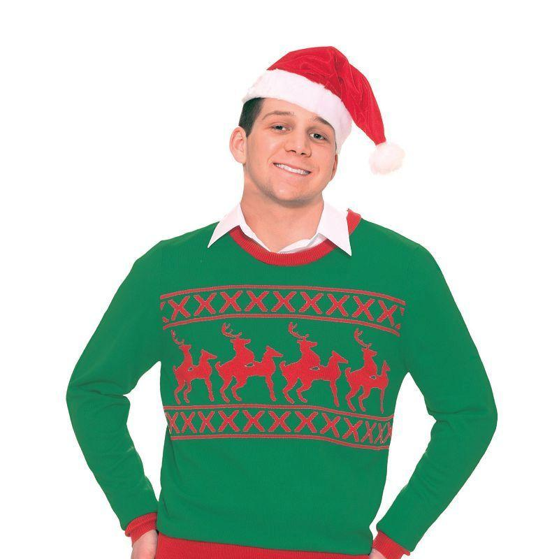 Mens Reindeer Games Sweater. (Adult Costumes) - Male - One Size Halloween Costume