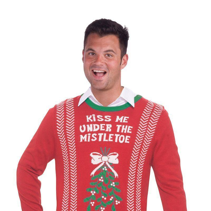 Mens Mistletoe Sweater. (Adult Costumes) - Male - One Size Halloween Costume