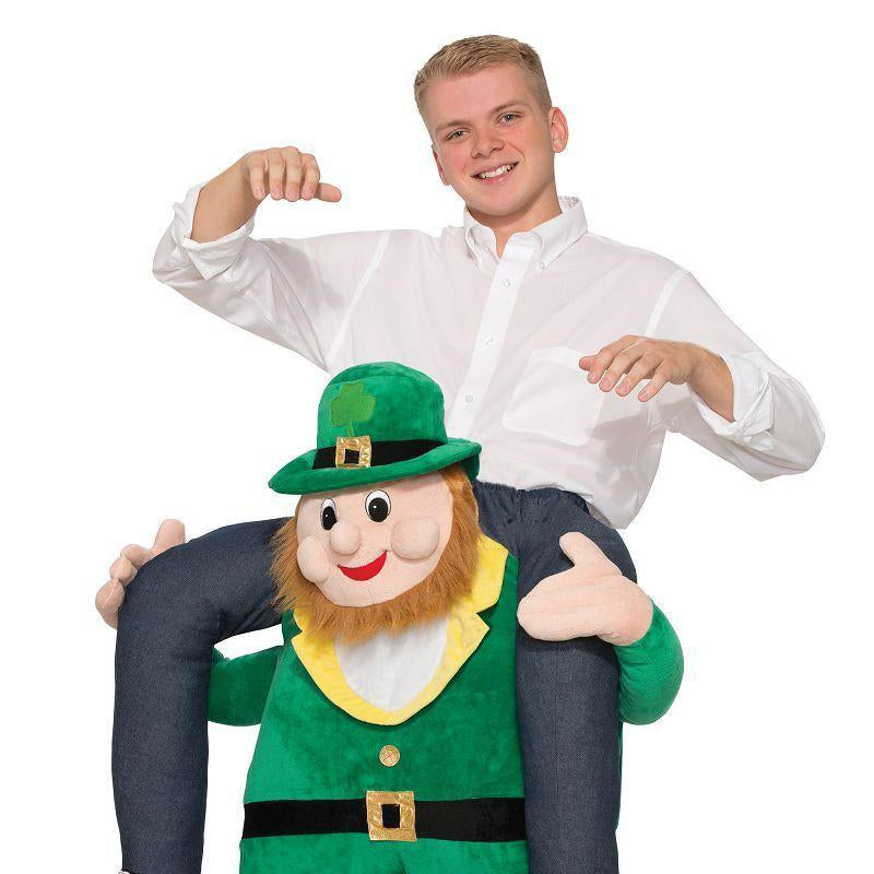 Piggy Back Leprechaun (Adult Costumes) - Unisex - Fits up to waist size 34""