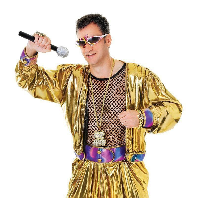 Mens 80s Video Super Star Adult Costume - Male - One Size Halloween Costume