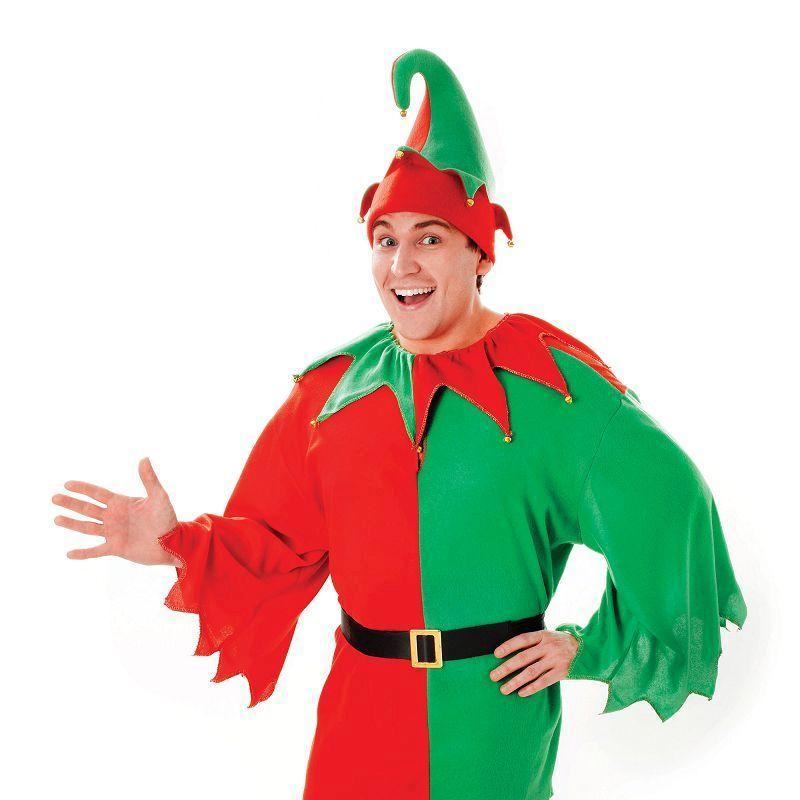 Elf / Santa Helper Adult Costume - Unisex - One Size