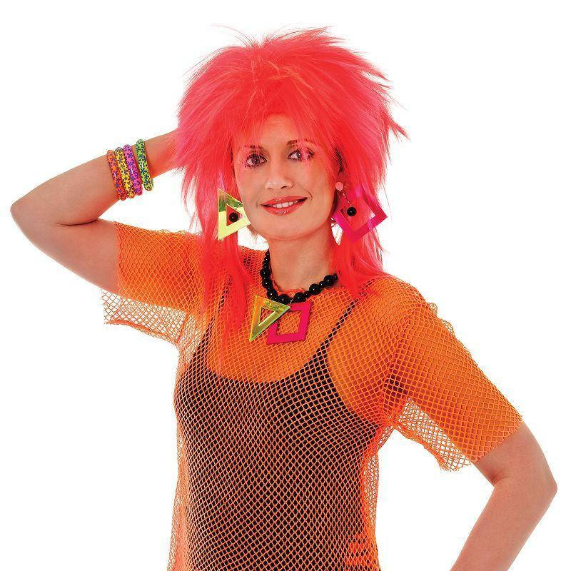 Womens Mesh Top. Orange. Female Adult Costume - Female - One Size Halloween Costume