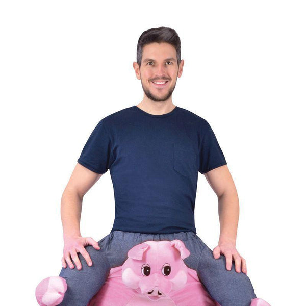 "Piggy Back Pig Costume (Adult Costumes) - Unisex - Male chest size 44""/Female UK 10-14"