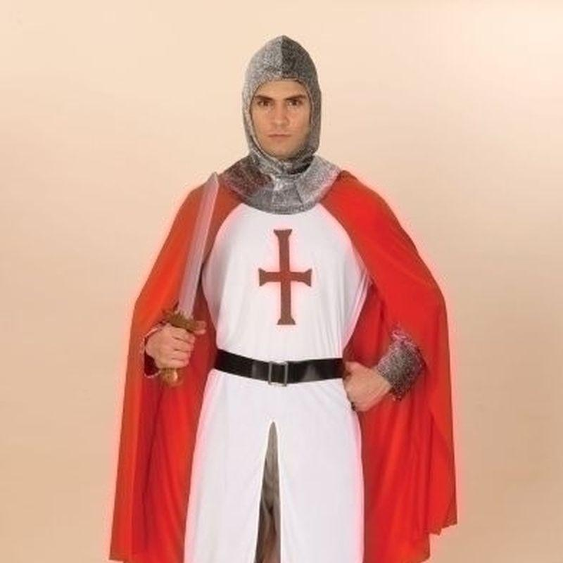 Mens Knight Crusader Adult Costume - Male - One Size Halloween Costume
