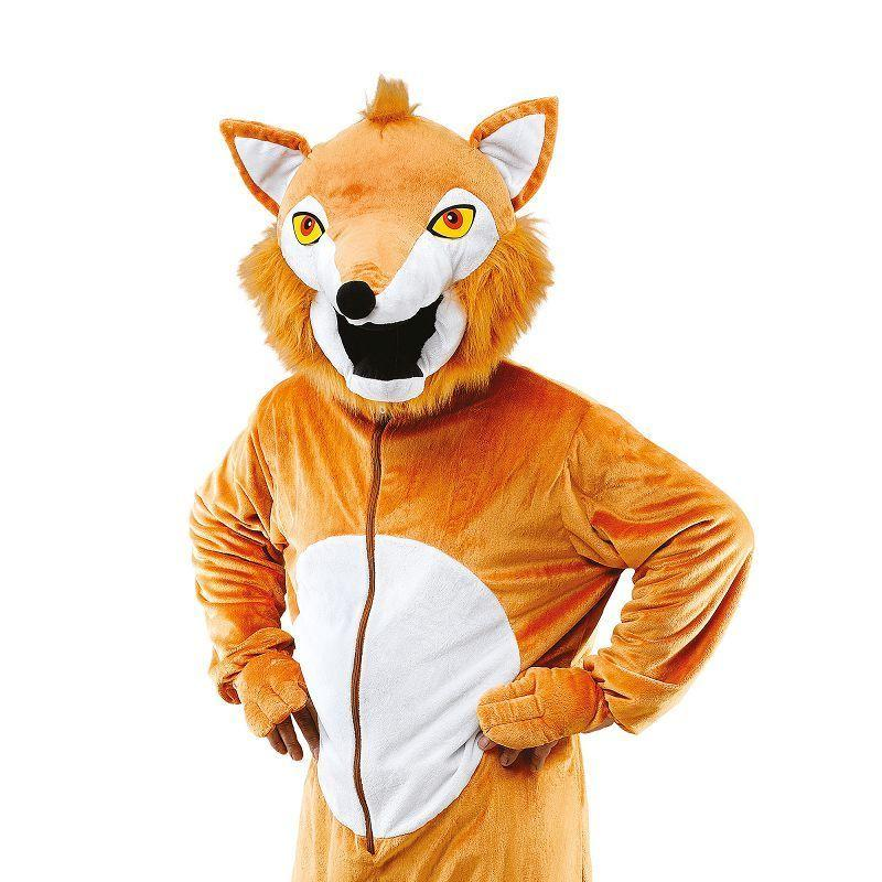 Fox Costume. Big Head Adult Costume - Unisex - One Size