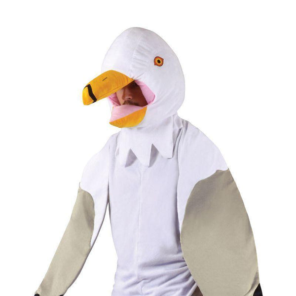 "Seagull Costume Big Head (Adult Costumes) - Male - Male chest size 44""/Female UK 10-14"
