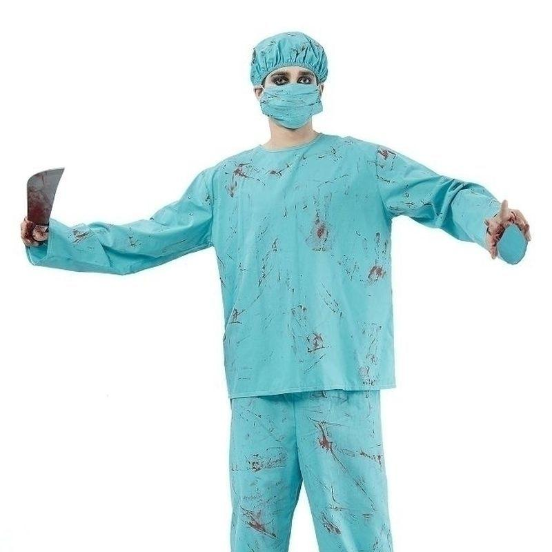 Mens Blood Splatter Surgeon Adult Costume - Male - One Size Halloween Costume
