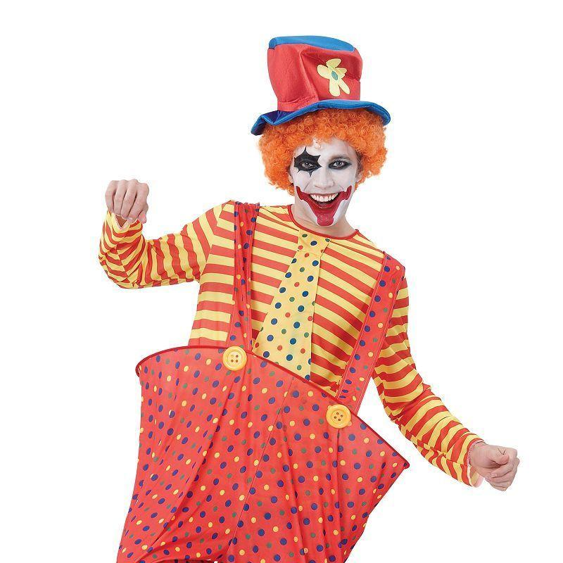 Mens Hoop Clown Adult Costume - Male - One Size Halloween Costume