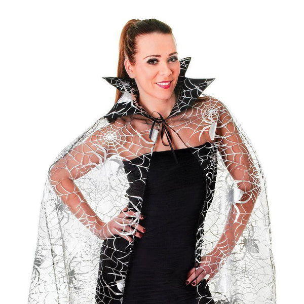 Womens Spider Web Cape Adult Costume - Female - One Size Halloween Costume