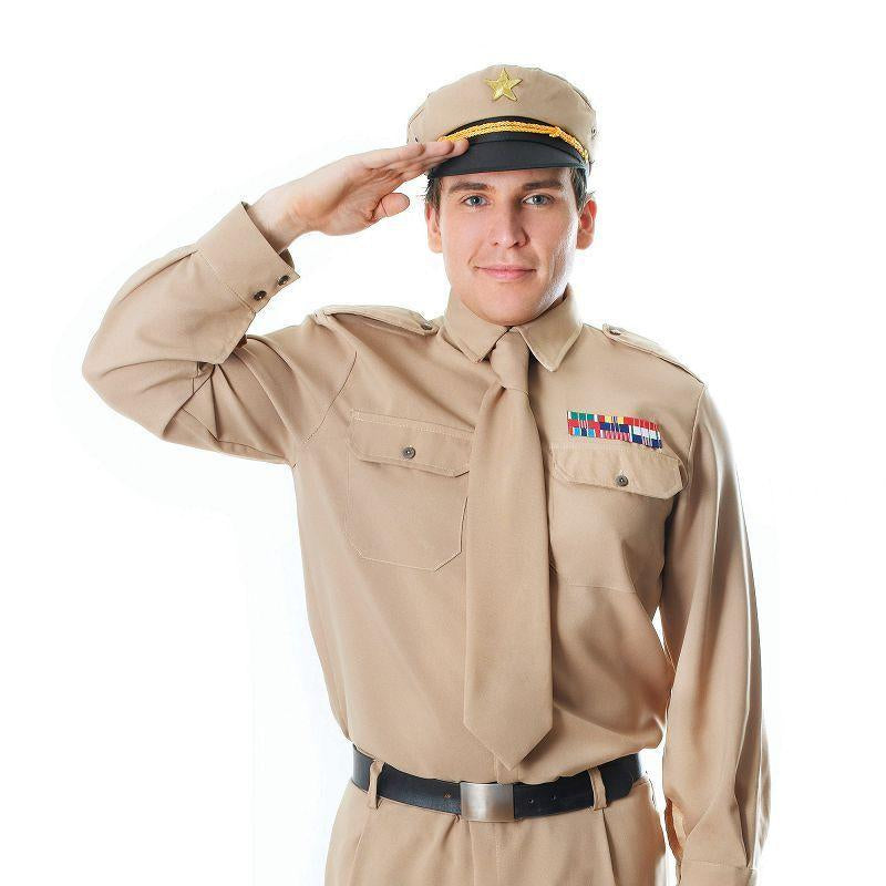 Mens Ww2 Army General Adult Costume - Male - One Size Halloween Costume