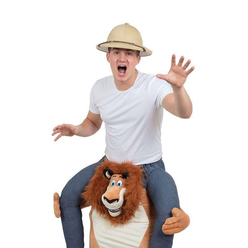"Lion Piggy Back Costume (Adult Costumes) - Fits up waist size 38""/40"""