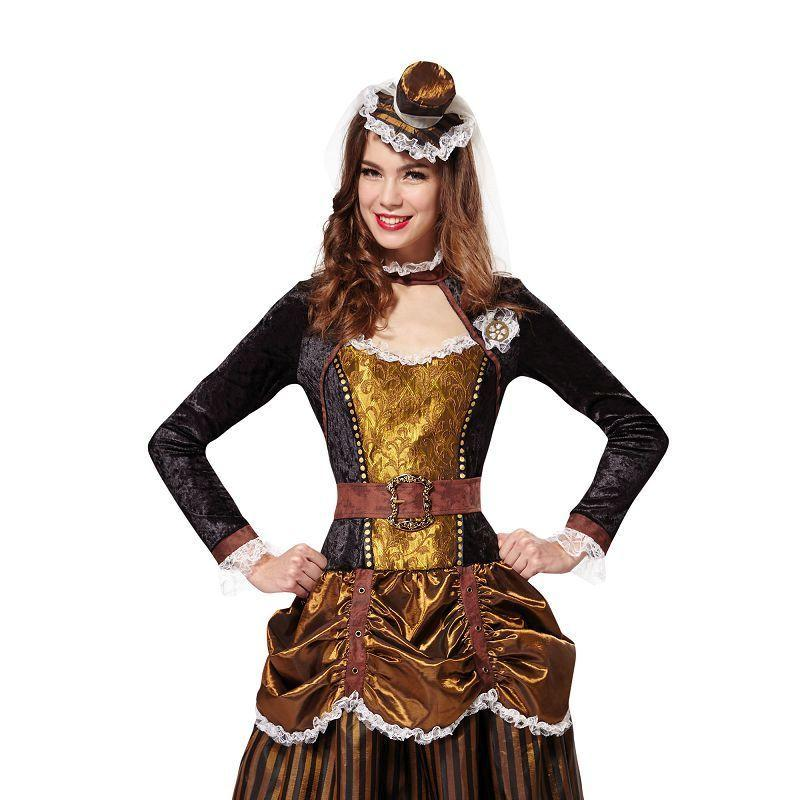 Steampunk Lady (Adult Costumes) - UK Size 10-14