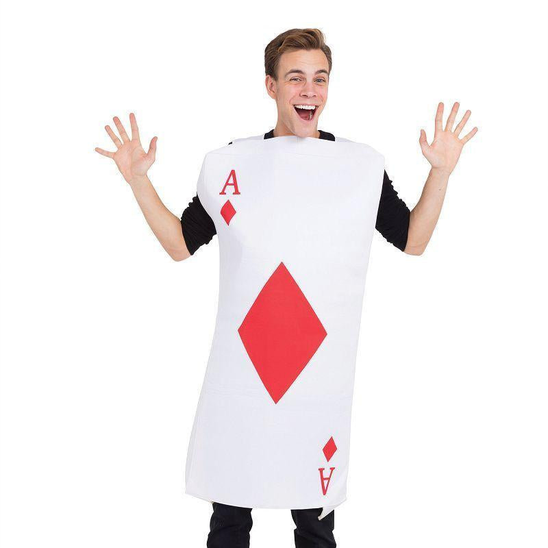 Ace Of Diamonds Costume (Adult Costumes) - One size fits most
