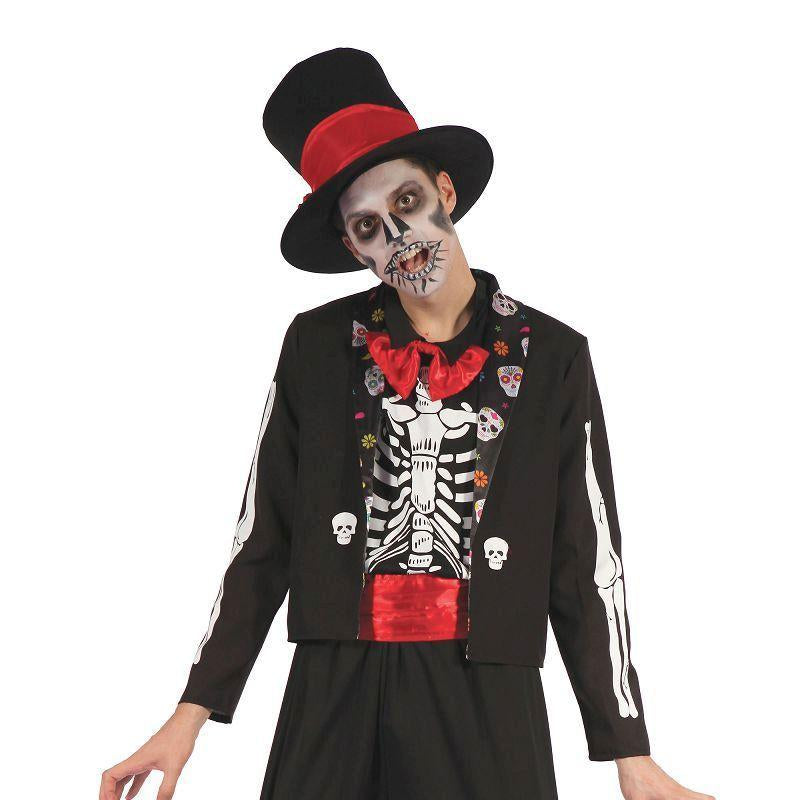 Day of the Dead Bone Suit (Adult Costumes) - Male - One Size Fits Most