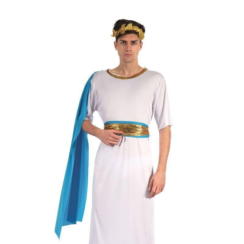 Greek God With Blue Sash (Adult Costumes) - Chest Size 44""