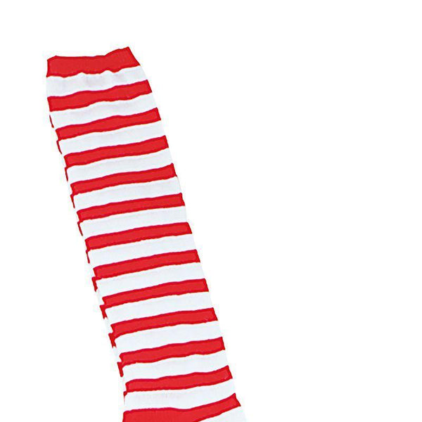 Clown Socks. Red/White Stripe (Costume Accessories) - Unisex - One Size