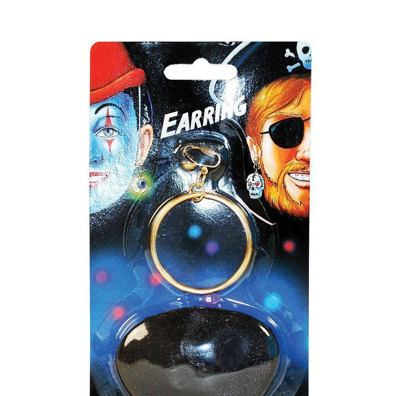 Pirate Ear Ring & Eyepatch (Costume Accessories) - Unisex - One Size