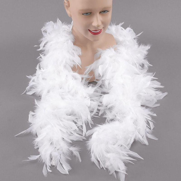 Womens Feather Boa. White (Costume Accessories) - Female - One Size Halloween Costume