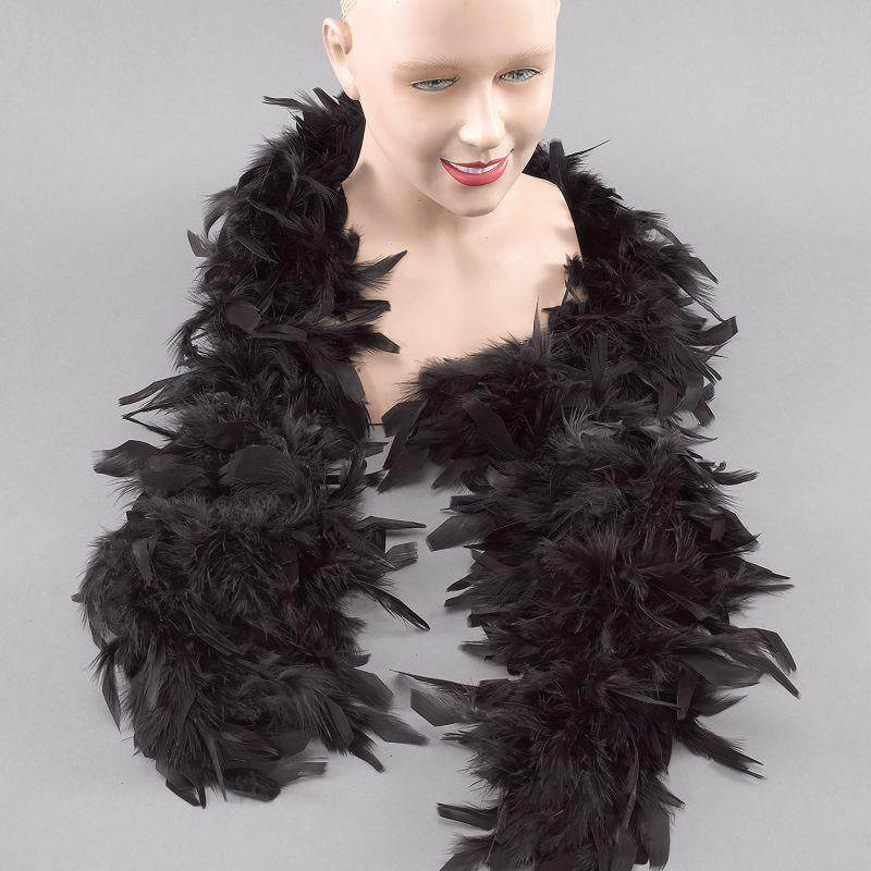 Womens Feather Boa. Black (Costume Accessories) - Female - One Size Halloween Costume