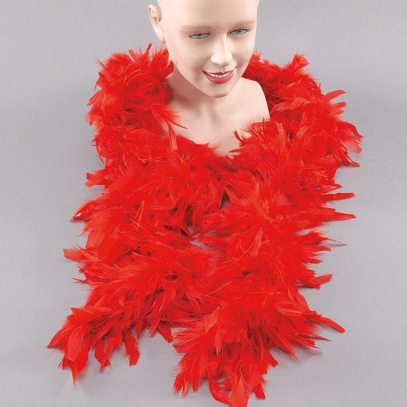 Womens Feather Boa. Red (Costume Accessories) - Female - One Size Halloween Costume