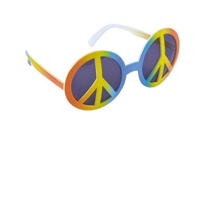 Womens Rainbow Peace Glasses. (Costume Accessories) - Female - One Size. Halloween Costume