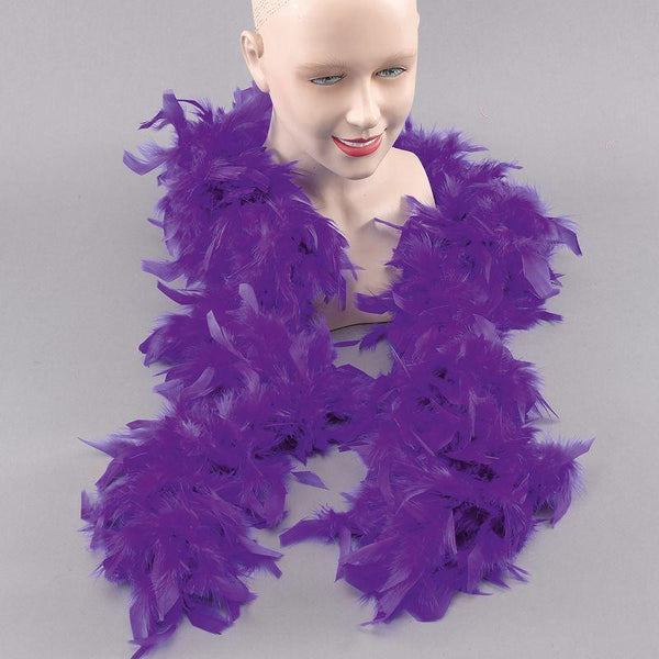 Womens Feather Boa.royal Blue (Costume Accessories) - Female - One Size Halloween Costume