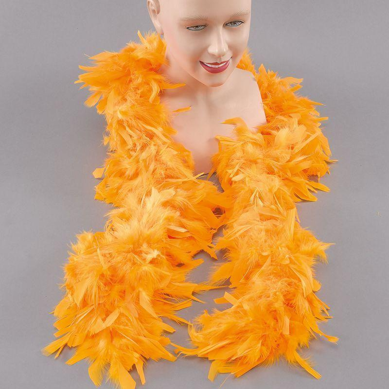 Womens Feather Boa. Yellow (Costume Accessories) - Female - One Size Halloween Costume
