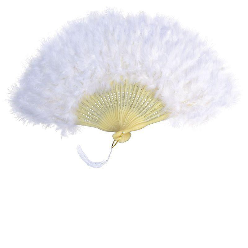 Womens Feather Fan.white (Costume Accessories) - Female - One Size Halloween Costume