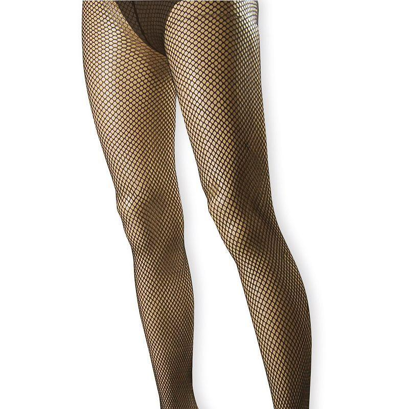 Womens Fishnet Tights. Black (Costume Accessories) - Female - One Size Halloween Costume