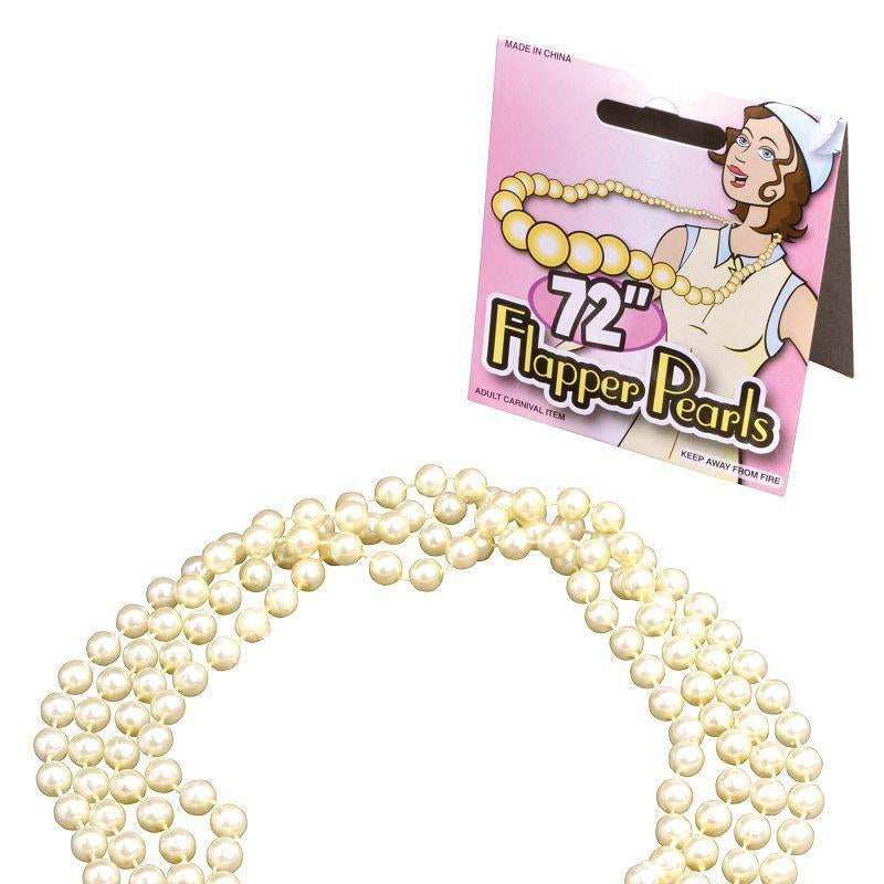 "Womens Flapper Beads. 72"" Pearls (Costume Accessories) - Female - 72"" Halloween Costume"