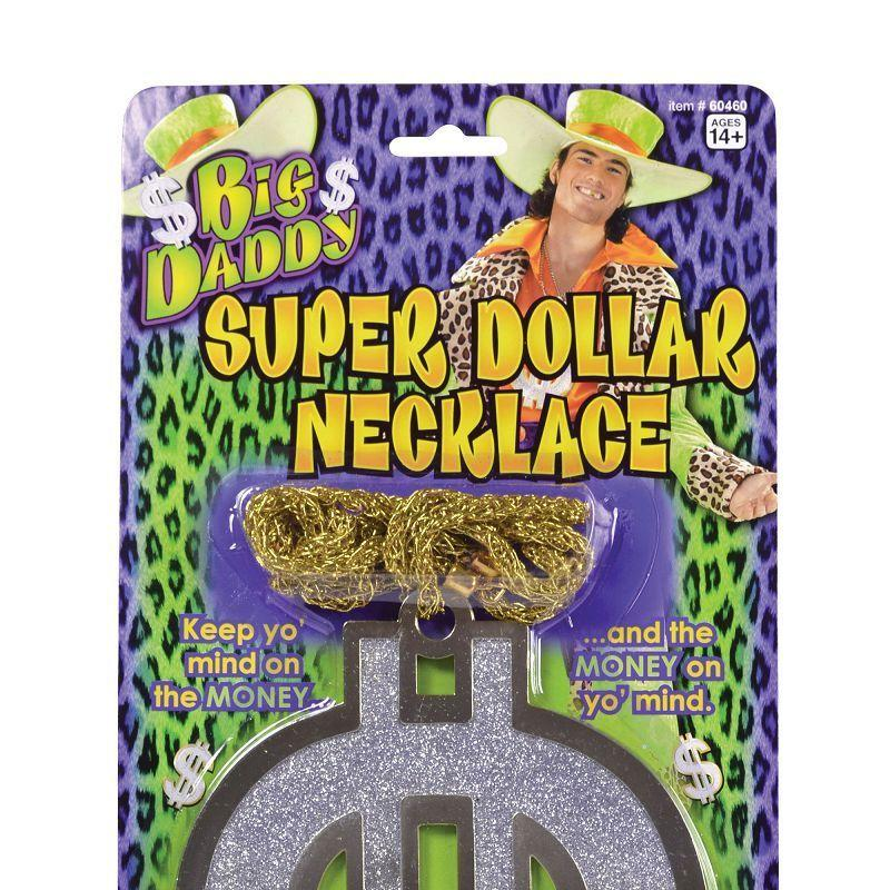 Mens Big Daddy Super $ Necklace (Costume Accessories) - Male - One Size Halloween Costume