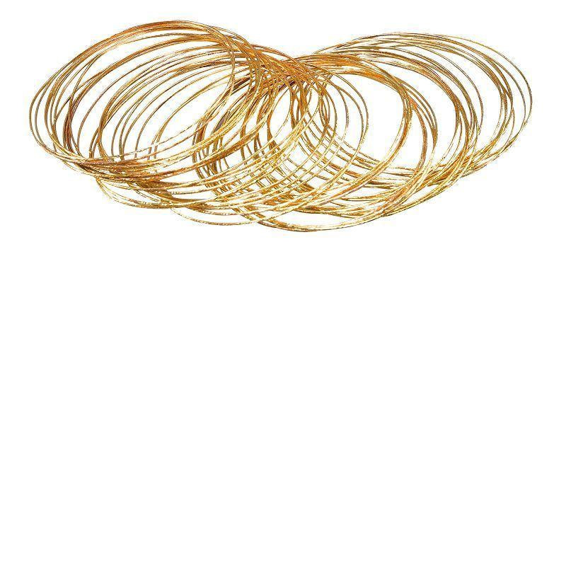 Womens Bracelet. Gold Bangle (Costume Accessories) - Female - 50 Pieces Halloween Costume