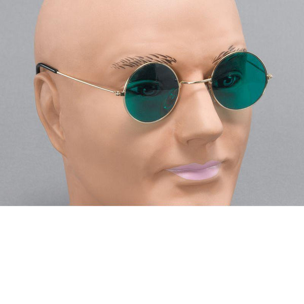 Mens John Lennon Glasses. Green Lens (Costume Accessories) - Male - One Size Halloween Costume