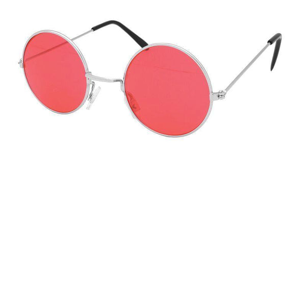 Mens Lennon Glasses. Red. (Costume Accessories)- Male - One Size Halloween Costume