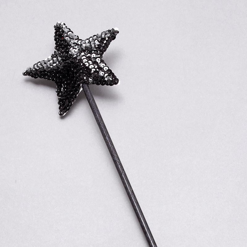 Womens Wand. Black Sequin (Costume Accessories) - Female - One Size Halloween Costume