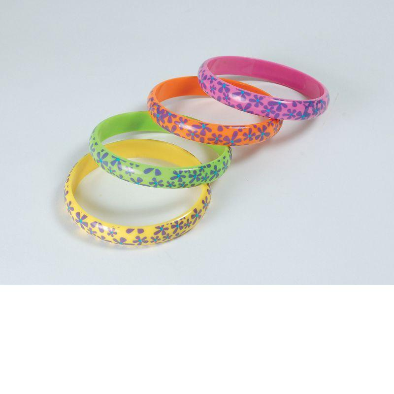 Hippy Flower Bracelets (Costume Accessories) - Unisex - One Size