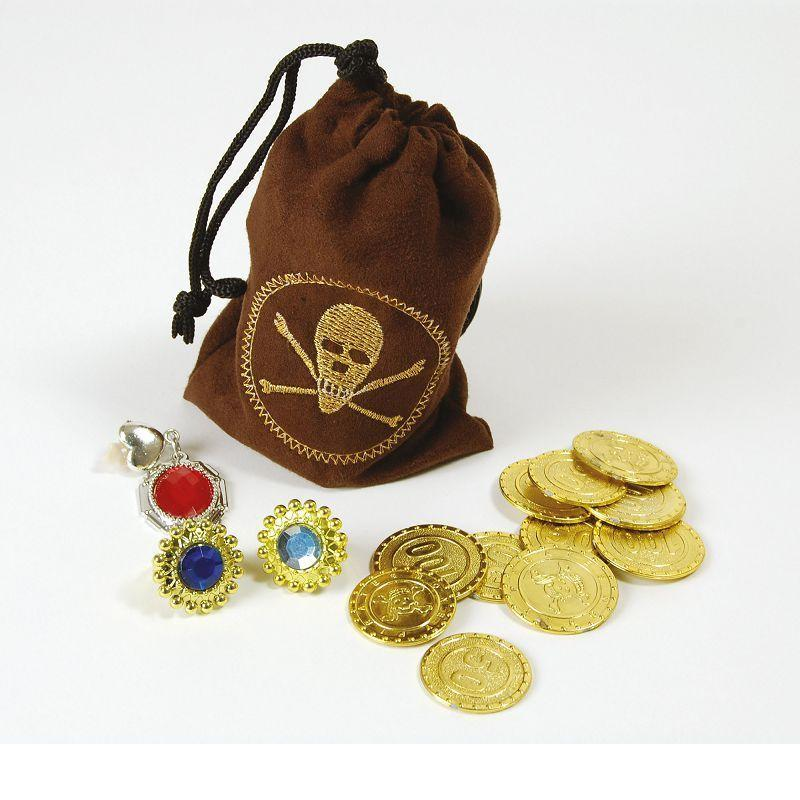 Pirate Coins & Jewellery (Costume Accessories) - Unisex - One Size