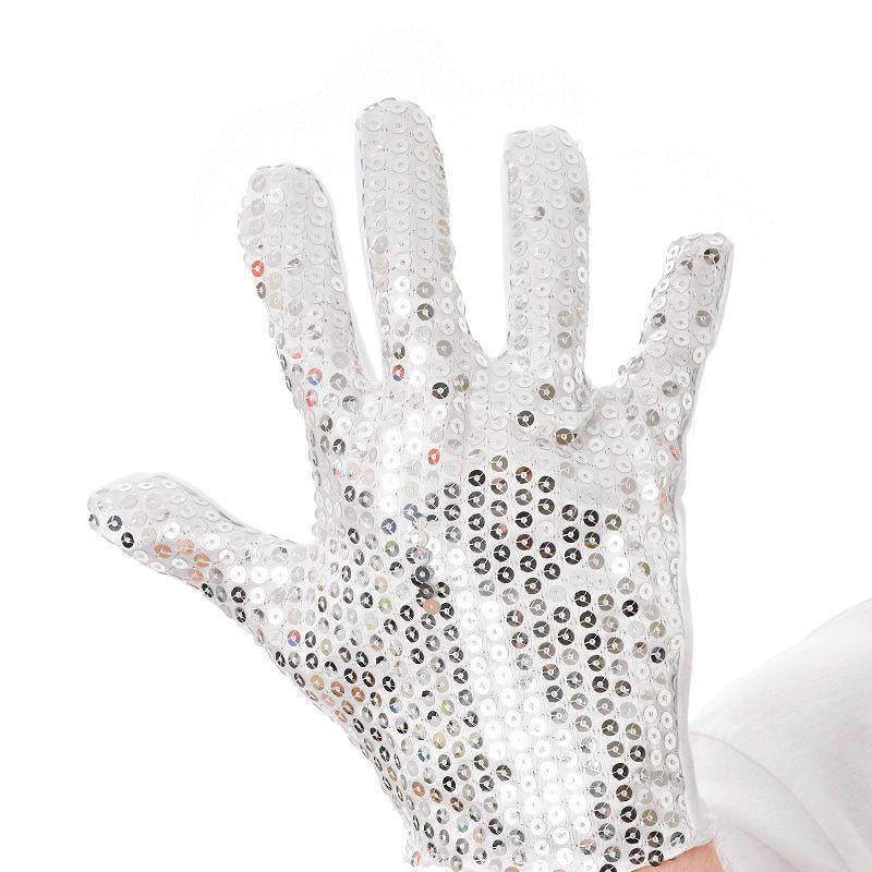Mens Sequin Glove (Costume Accessories) - Male - One Size Halloween Costume