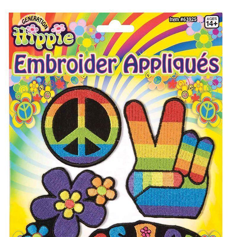 Hippy Appliques (Costume Accessories) - Unisex - One Size