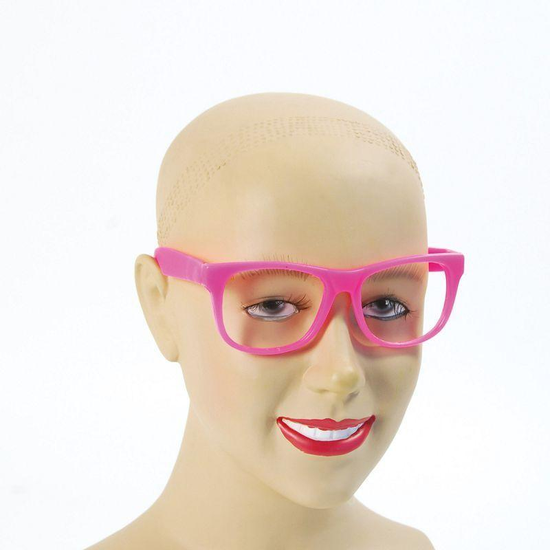 Womens Pink Frame Glasses (Costume Accessories) - Female - One Size Halloween Costume
