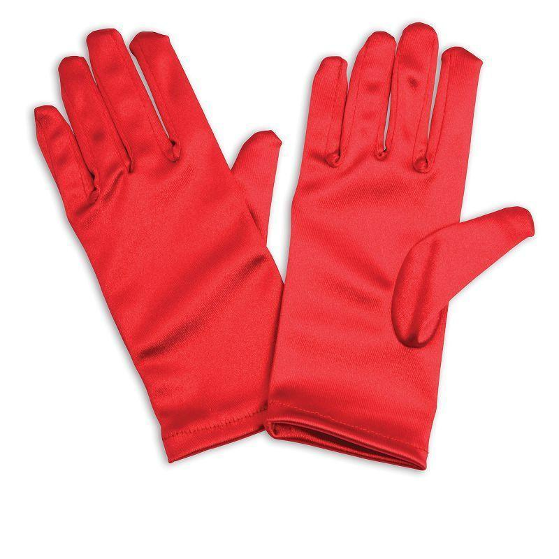 Gloves. Childs, Red (Costume Accessories) - Unisex - One Size