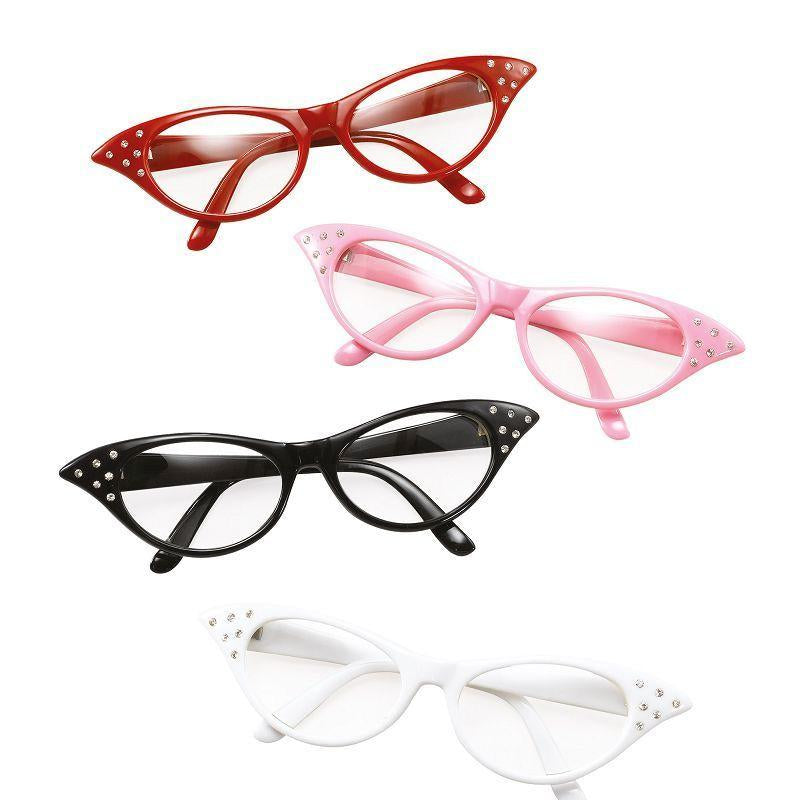 Womens Glasses. 50s Female Style Red (Costume Accessories) - Female - One Size Halloween Costume