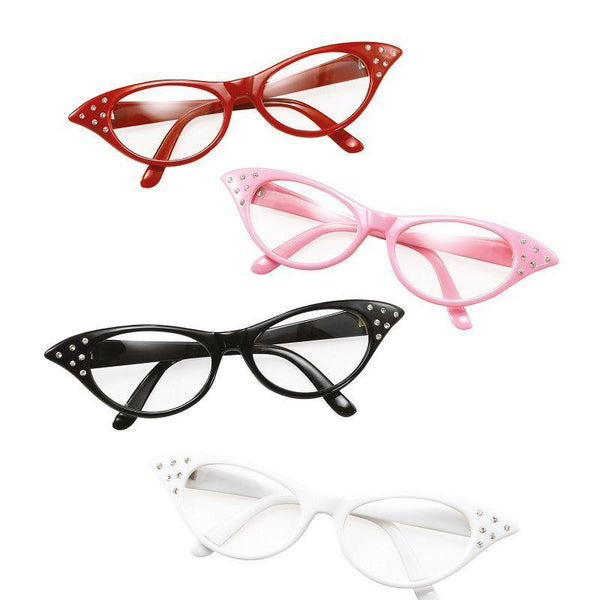 Womens Glasses. 50s Female Style Pink (Costume Accessories) - Female - One Size Halloween Costume