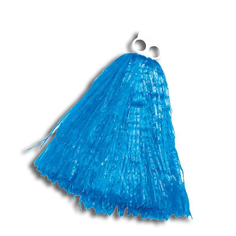 Womens Pom Poms. Small. Blue (Costume Accessories) - Female - Small Halloween Costume
