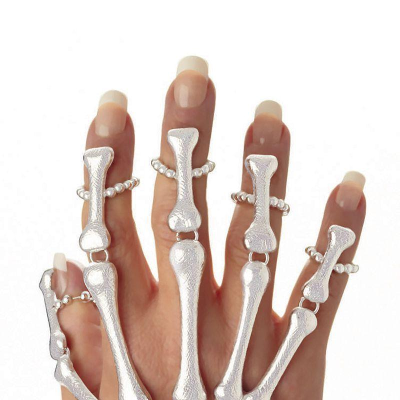 Womens Skeleton Hand Bracelet (Costume Accesories) - Female - One Size Halloween Costume