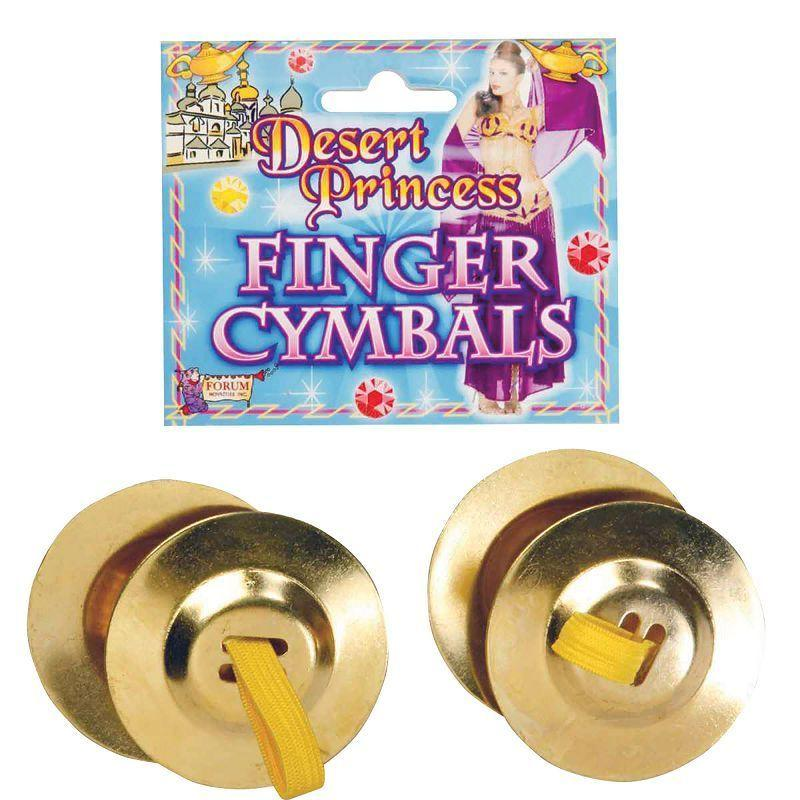 Finger Cymbals (2 in Pkt) (Costume Accessories) - Unisex - One Size
