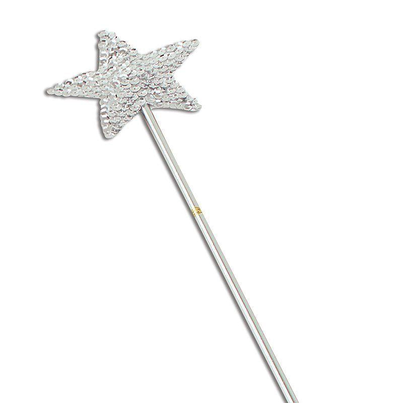 Womens Wand, Silver Sequin (Costume Accessories) - Female - One Size Halloween Costume